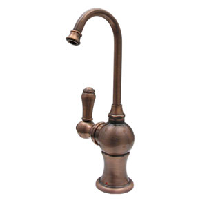 Forever Hot Mahogany Bronze 2.75-Inch Instant Hot Water Dispenser w/Gooseneck Spout & Self Closing Handle