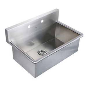 Noahs Brushed Stainless Steel 31-Inch Commercial Drop-In Laundry-Scrub Sink