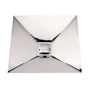 Noahs Stainless Steel 16.75-Inch Wall Mount Square Bath Sink