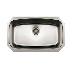 Noahs Brushed Stainless Steel 29.5-Inch Single Bowl Undermount Sink