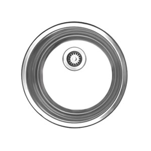 Noahs Brushed Stainless Steel 12.75-Inch Round Drop-In Entertainment/Prep Sink