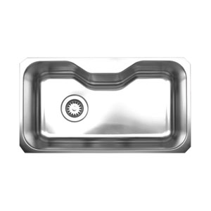 Noahs Brushed Stainless Steel 32.13-Inch Single Bowl Undermount Sink