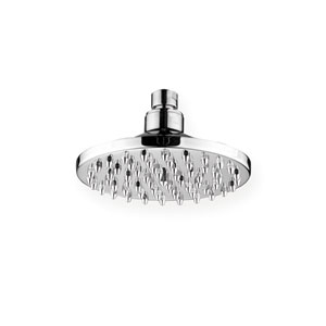 Showerhaus Brushed Nickel 6-Inch Round Rainfall Showerhead w/62 Spray Nozzles - Solid Brass Construction w/Adjustable Ball