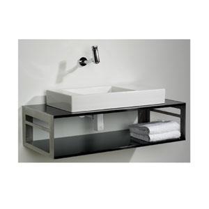 Aeri Black 39.75-Inch Counter Top And Shelf Unit