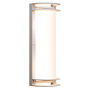 Bermuda Satin Two-Light LED Outdoor Wall Sconce with Ribbed Frosted Glass Shade