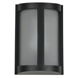 Pier Black One-Light Outdoor Wall Sconce