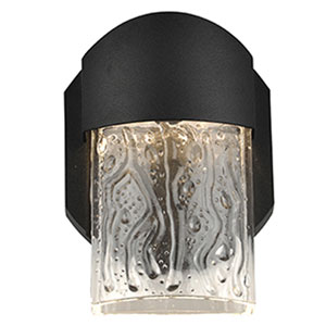 Mist LED Black 1-Light Outdoor Wall Light