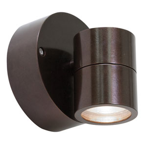 KO Bronze One-Light Outdoor Spotlight with Clear Glass