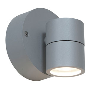 KO Satin LED 4-Inch Outdoor Spotlight with Clear Glass