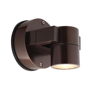 KO Bronze One-Light Outdoor Wall Light with Clear Glass