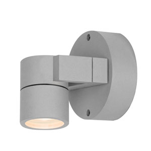KO Satin LED 5-Inch Outdoor Spotlight with Clear Glass