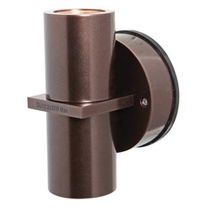 KO Bronze Two-Light Outdoor Wall Light with Clear Glass