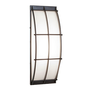 Tyro Bronze Outdoor Wall Mount with Opal Glass