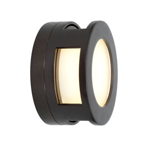 Nymph Bronze Fluorescent One-Light Outdoor Wall Mount with Frosted Glass