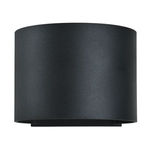 Curve LED Black 2-Light Outdoor Wall Sconce