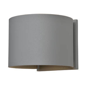 Curve LED Satin 2-Light Outdoor Wall Sconce