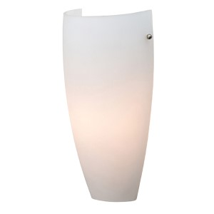 Daphne Brushed Steel 5.5-Inch Wide LED Wall Sconce with Opal Glass