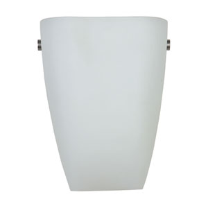 Elementary Brushed Steel 1-Light Wall Sconce