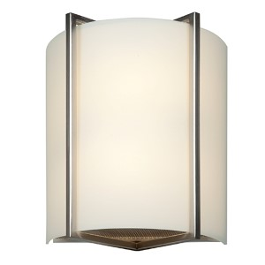 Vector Brushed Steel Two-Light 9-Inch Wide Fluorescent Wall Sconce