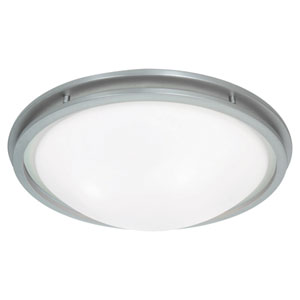 Aztec Brushed Steel Two-Light Flush Mount