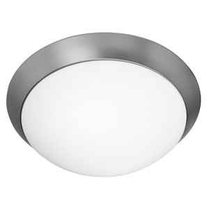 Cobalt Brushed Steel Two-Light Flush Mount Fixture
