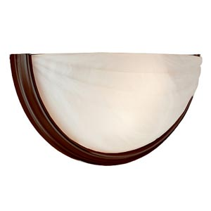 Oil Rubbed Bronze Two Light Half Moon Wall Sconce