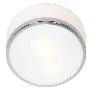 Aero Polished Chrome One-Light Flush Mount with Opal Glass