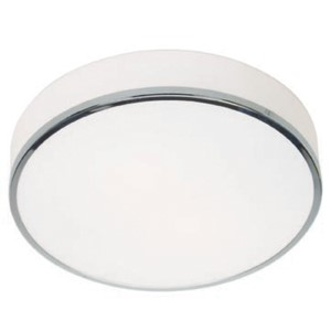 Aero Polished Chrome Two-Light Flush Mount with Opal Glass