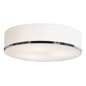 Aero Chrome 15.5-Inch Wide LED Flush Mount