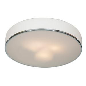 Aero Chrome Three-Light 19.5-Inch Wide Flush Mount