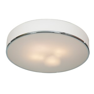 Aero Chrome Four-Light 21.5-Inch Wide Flush Mount