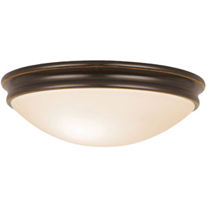 Atom Oil Rubbed Bronze One-Light Flush Mount