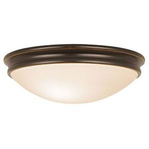 Atom Oil Rubbed Bronze Two-Light Flush Mount