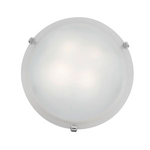 Mona Chrome Two-Light 12-Inch Flush Mount with White Glass