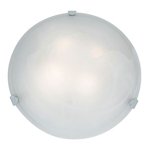 Mona Chrome Four-Light 20-Inch Flush Mount with Alabaster Glass