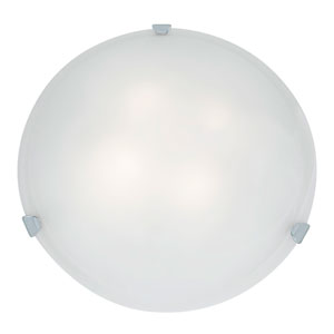Mona Chrome Four-Light 20-Inch Flush Mount with White Glass