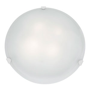 Mona White Four-Light 20-Inch Flush Mount with White Glass