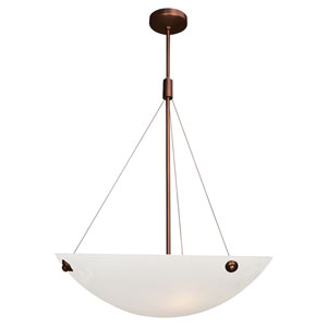 Noya Bronze Four-Light 24-Inch Pendant with Alabaster Glass