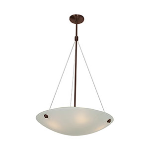 Noya Bronze Four-Light 24-Inch Pendant with White Glass