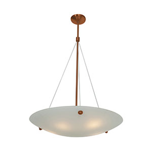 Noya Bronze Five-Light 28-Inch Pendant with White Glass