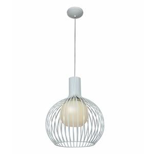 Chuki White One-Light 15-Inch Wide Dome Pendant