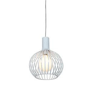 Chuki White One-Light 11.5-Inch Wide Dome Pendant
