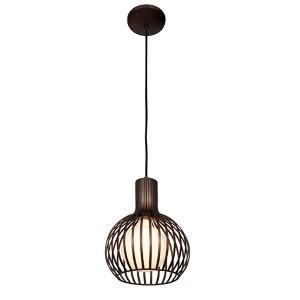 Chuki Bronze One-Light 9-Inch Wide Mini-Pendant