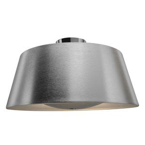 SoHo Brushed Stainless Steel Three-Light Flush Mount