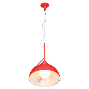 Magneto Red One-Light 14-Inch Wide Adjustable Dome Pendant