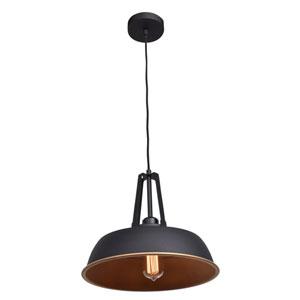 Nostalgia Matte Black 14-Inch One-Light Pendant