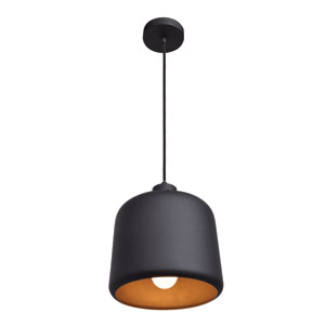 Nostalgia Matte Black 10-Inch One-Light Mini Pendant
