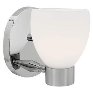 Frisco Chrome One-Light Bath Fixture