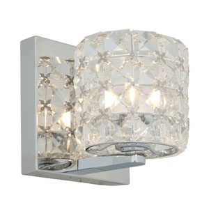 Prizm Chrome One-Light Vanity Light