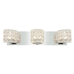 Prizm Chrome Three-Light Vanity Light